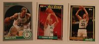 Larry Bird Lot of 3 Trading Cards Basketball NBA Boston Celtics Lot 2