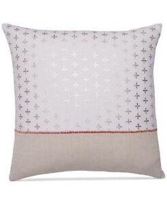 "Martha Stewart Colorblocked Quatrefoil Stamp 18"" Square Decorative Pillow"