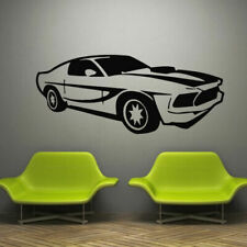 Wall Decal Decor Sticker Vinyl Car Race Mustang Track Speed Sport Wheel M795