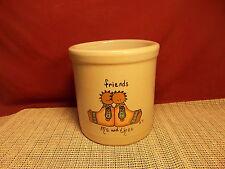 "Robinson Ransbottom Pottery Friends - Me & Thee- 2 Qt.  High Jar Crock 6 1/4"" T"