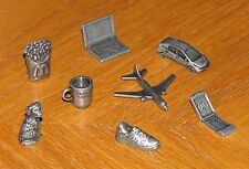 Monopoly Here & Now 8 Metal Figure Tokens Starbucks 2006 Hasbro token game parts