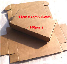 100x Kraft Paper Gift Boxes Party Jewelry Wedding Christmas Wrap Packaging Box
