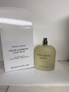 Dolce & Gabbana Light Blue edt 4.2 oz 125ml for men NEW tester No Cap White Box