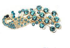 Hot Women Fashion Peacock Crystal Rhinestone Hairpin Antique Hair Clip Accessory