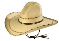 Larry Mahans PANCHO GUS PALM STRAW WESTERN HAT By Milano Hat Co. 7 S/M 56CM