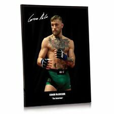"""Conor Mcgregor UFC canvas tribute signed Framed 12"""" x 16"""" """"Great Gift /Souvenir"""""""