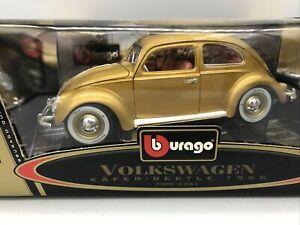 1/18 Bburago 1955 Gold Volkswagen Beetle JM Part # 33611