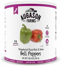 Augason Farms Dehydrated Diced Red & Green Bell Peppers Vegetable Emergency Food