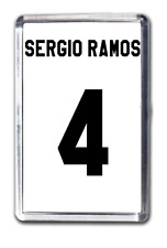 Sergio Ramos Real Madrid número 4 Camiseta de fútbol FRIDGE MAGNET Diseño