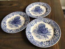 New ListingMyott Factory Blue Thanksgiving Turkey 3 Dinner Plates