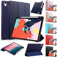 """For New iPad Pro 11"""" inch 2018 Slim PU Leather Smart Cover Case W/ Pencil Holder"""