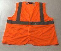 Men's Walls Work Wear Vest Orange Safety Reflective Materials Class 2, Size XL