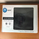 Onn Laptop Cooling Pad Black ONA11H0095 Open Box Works Great! Powered By USB