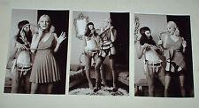BLONDE DARK UPSKIRT WHIP VINTAGE LESBIAN  15 PHOTOS 6 X 4 STRIPTEASE SET 3 NUDE