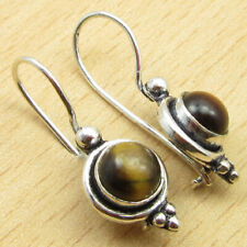 Plated Girls' Jewelry Brand New Beautiful Earrings, Exclusive Tiger'S Eye Silver