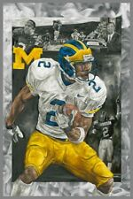 "Michigan Wolverines Charles Woodson 12""x18"" Fine Art Print"