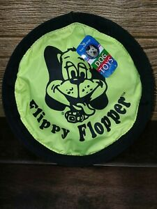 "NEW Pet 9"" FLIPPY FLOPPER, FRISBIE, DOG TOY, yellow"