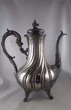 antica caffettiera argento massiccio punzone minerve XIX stile Luigi XV rocaille