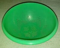 Vintage Tupperware Jadeite Green Colander Strainer Bowl #339-3