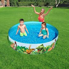 More details for large 6' family swimming pool outdoor garden summer fun kids paddling pools