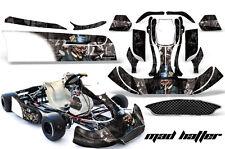 AMR Racing Graphics CRG NA2 Kart Wrap New Age Sticker Decal Kit MAD HATTER SLVR