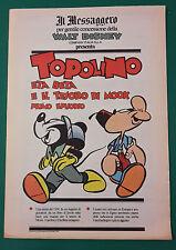 <F1>  WALT DISNEY IL MESSAGGERO TOPOLINO ETA BETA E IL TESORO DI MOOK  1° EP.
