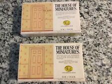 2 X-Acto House Of Miniatures Dollhouse Wood Door Kits. (#41215)  Vintage
