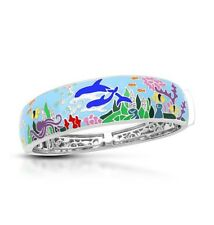 Belle Etoile Dolphin Blue Bangle NWT Size M