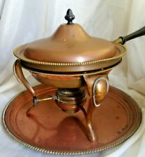 Vintage 6 Pc Chafing Dish Copper & Brass S Sternau & Co New York Trade Mark