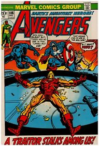 Avengers #106 Marvel Comics FN Plus - White Pages