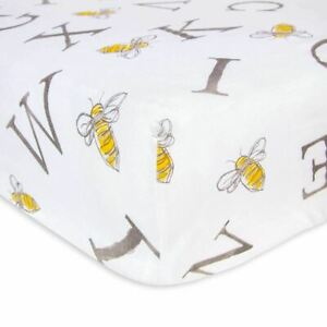 Burt's Bees Baby - Fitted Crib Sheet, Boys & Unisex 100% Organic Cotton Crib She
