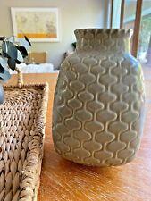 Modernist Jonathan Adler Vintage handmade ceramic vase - an early classic - rare