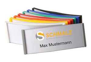 1 bis 100 Namensschilder Kunststoff 75x30 mm Ansteckschild für die Kleidung