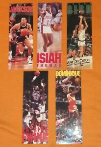 Vintage 5 Costacos Mini NBA Basketball Posters Bird Jackson Thomas Wilkins Ewing