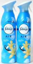 2 Febreze Air 10.1 Oz Vanilla Blossom Eliminates Odors Natural Propellant Spray