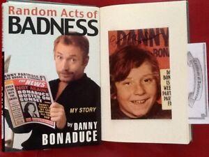 Danny Bonaduce SIGNED Photo & Bio TV Child Actor Partridge Family Scandals HC/DJ
