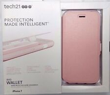 New Original Tech21 EVO Wallet Light Rose Pink Case Cover For Apple iPhone 7