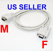 DB9 Male to DB9 Female RS-232 Serial Extension Cable 6Ft RS232 (DB9M / DB9F)