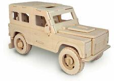 Quay P323 Land Rover Woodcraft Construction Kit FSC Brown
