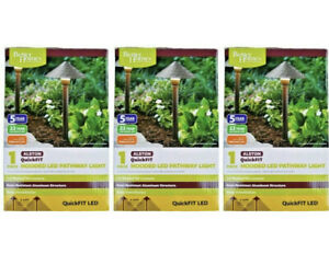 3 Better Homes & Gardens QuickFIT LED Alston Hooded Pathway Lights New in Box