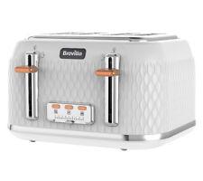 BREVILLE Curve VTT787 4-Slice Toaster - White Power:1650 W Material:Plastic