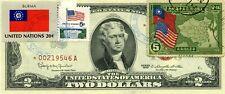 $2 DOLLARS 1963 STAR STAMP CANCEL FLAG UN FROM BURMA LUCKY MONEY VALUE $500
