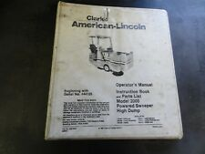 Clarke American Lincoln 2000 Powered Sweeper High Dump Parts Operator Manual