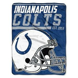 NFL Large Ceiling Indianapolis Colts Silk Throw Blanket 40 Yard Dash Football