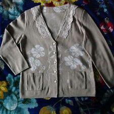 Geblümte Damen-Strickjacken aus Baumwollmischung