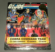 Vintage GI Joe 1998 Cobra Command Team 3 Pack Destro Baroness Cobra Commander