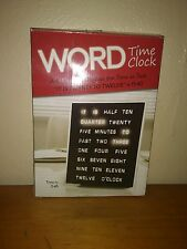 LED Word Time Clock-Displays Time as Text-Wall or Desktop-NEW IN BOX