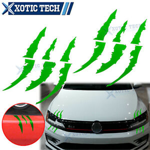 Green Monster Claw Scratch Decal Reflective Decor Stickers For Volkswagen Jetta