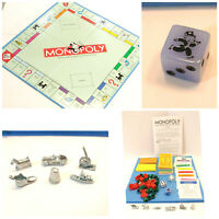 Monopoly FULL Game Parts: Board Dice Deeds Money Houses Hotels Tokens Cards