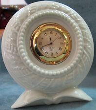 Lenox Embossed Flower Form Elegant Small Quarts Clock